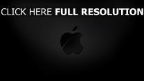 apple mac logo textur geprägt schatten grau