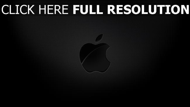 hd hintergrundbilder apple mac logo textur geprägt schatten grau