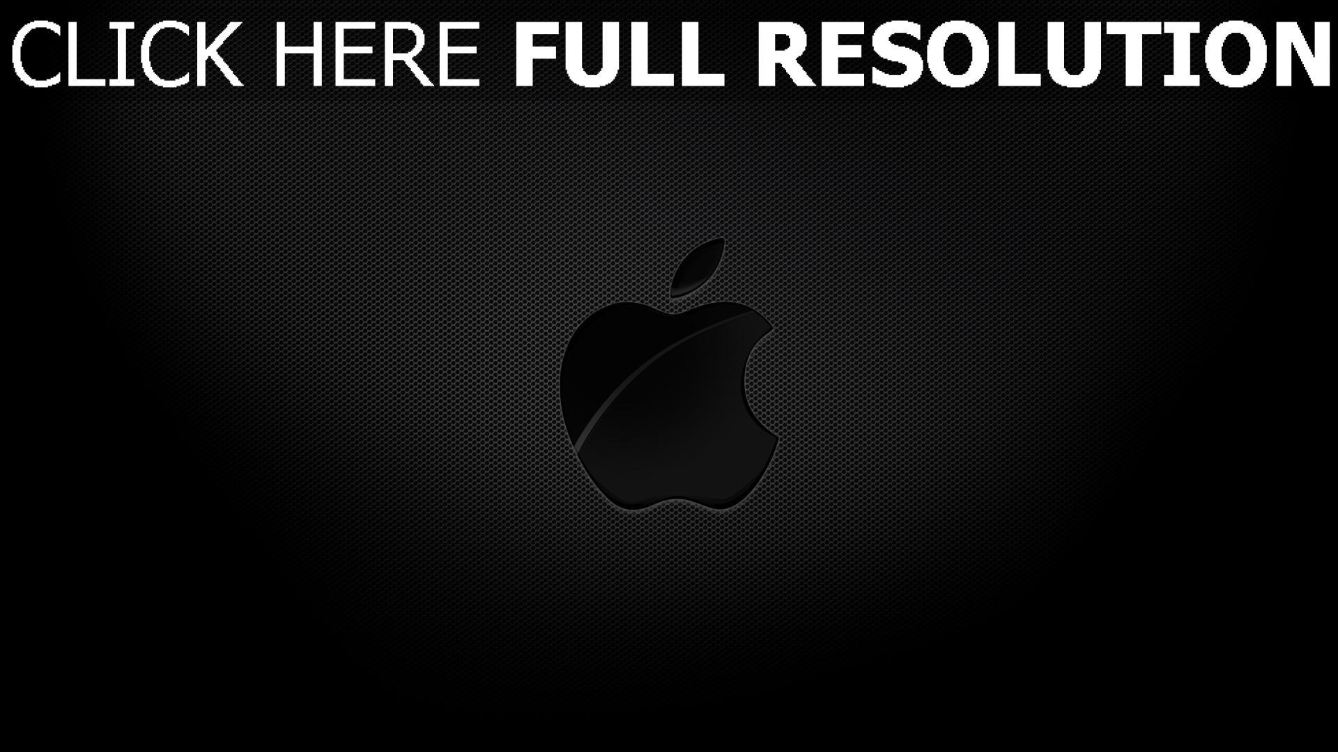 hd hintergrundbilder apple mac logo textur geprägt schatten grau 1920x1080