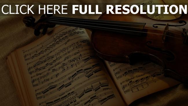 hd hintergrundbilder buch violine papier notizen streicher