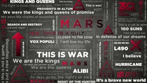 worte 30 seconds to mars figuren symbol name