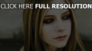 gesicht avril lavigne schauen haare make-up