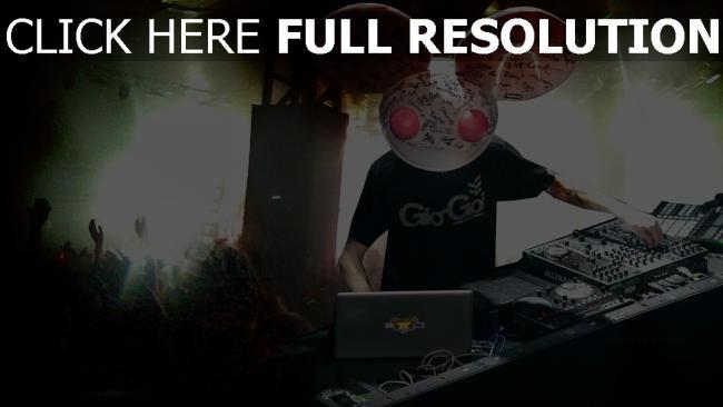 hd hintergrundbilder disco deadmaus dj augen club