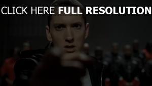 schauen eminem jacke augen finger