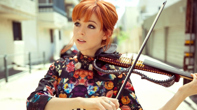 hd hintergrundbilder violine lindsey stirling musiker mädchen