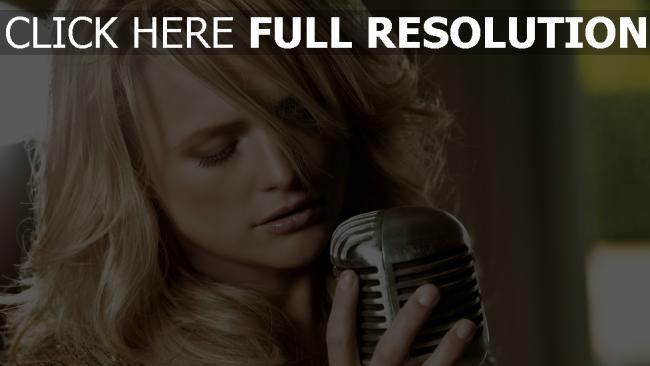hd hintergrundbilder sängerin miranda lambert mikrofon mädchen blond