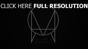 skrillex owsla logo etikett schwarz