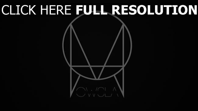 hd hintergrundbilder skrillex owsla logo etikett schwarz