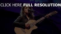 mikrofon gitarre katie melua sänger show