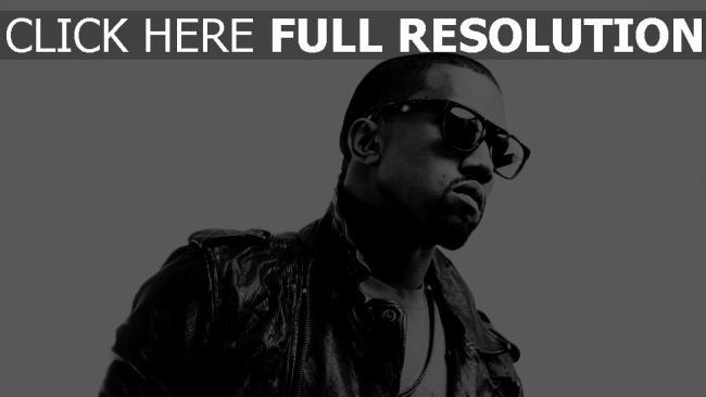 hd hintergrundbilder kanye west brille rapper jacke