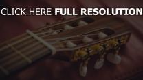 griffbrett gitarre saiten