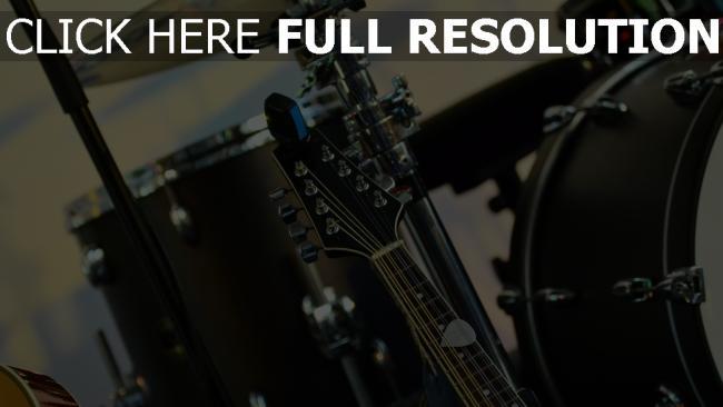 hd hintergrundbilder musik musikinstrument gitarre schlagzeug