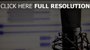 studio mikrofon aufnahme