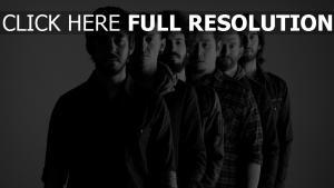 rockband schwarz-weiß linkin park