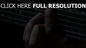 gitarre finger saiten