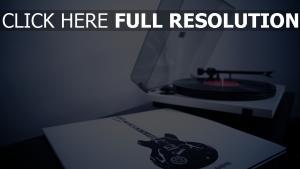plattenspieler, schallplatte, vinyl, gitarre