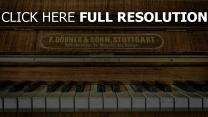 tasten klavier fortepiano
