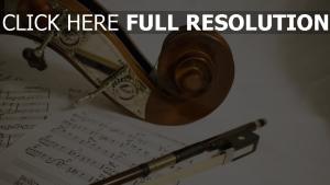 noten bogen kontrabaß musik