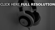 schwarz-weiß razer kopfhörer
