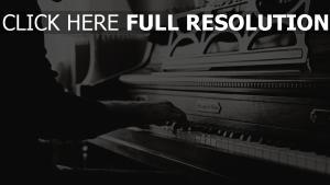hände vintage klavier schwarz-weiß musik