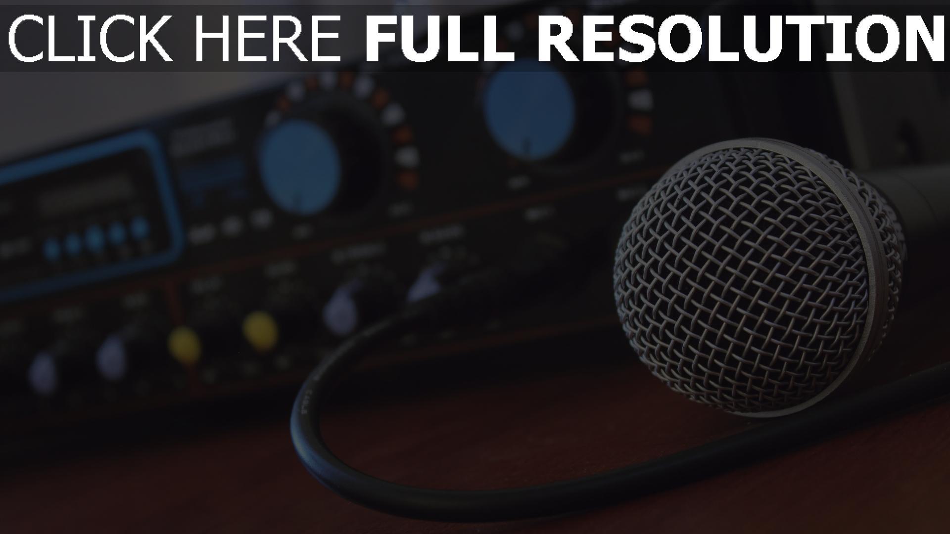 hd hintergrundbilder musik verstärker mikrofon 1920x1080