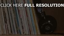 schallplatten sammlung kopfhörer