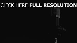 schwarz-weiß musik mikrofon