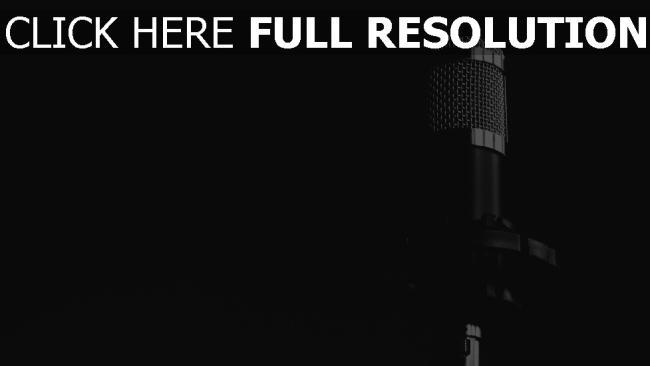 hd hintergrundbilder schwarz-weiß musik mikrofon