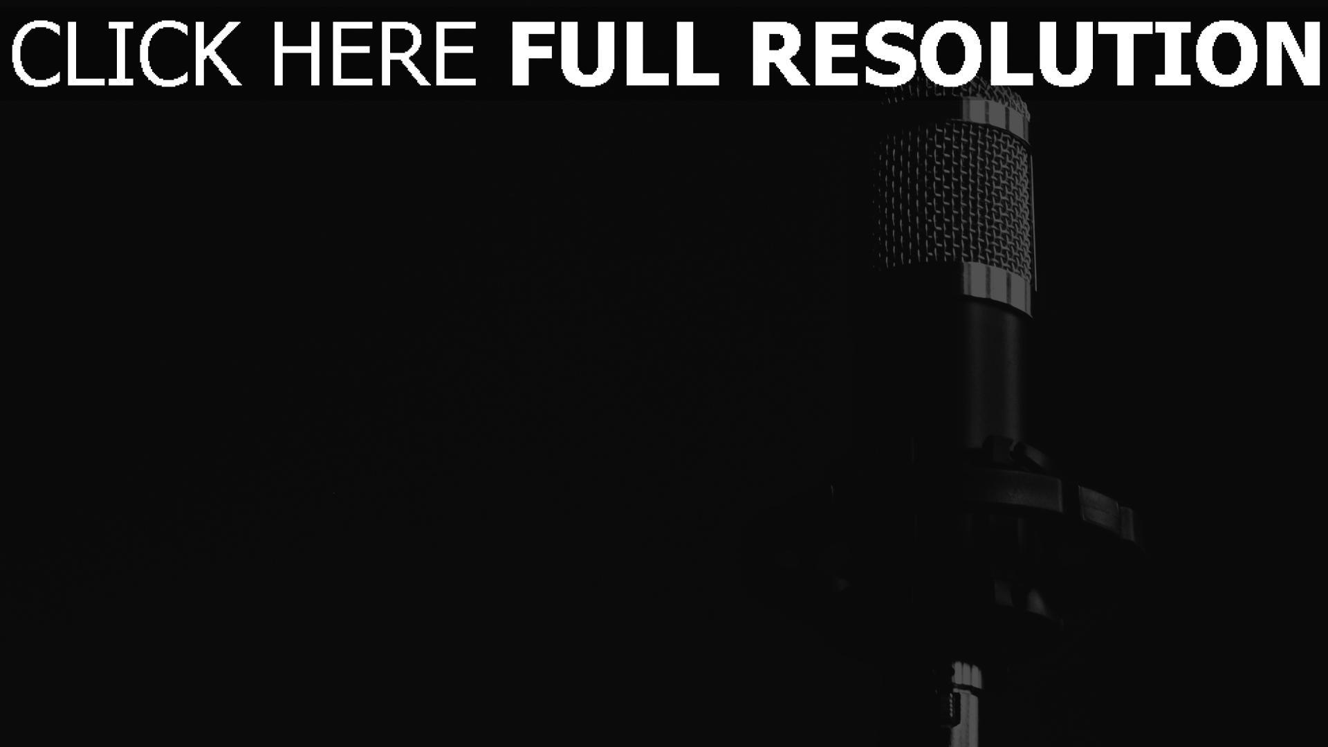 Very HD Hintergrundbilder schwarz-weiß musik mikrofon, desktop hintergrund AJ71