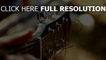 gitarre saiten griffbrett