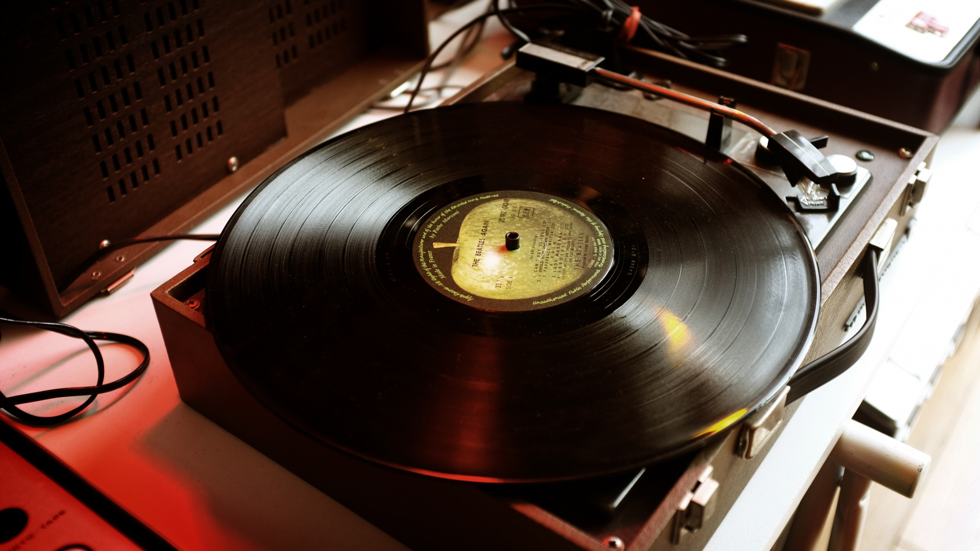 hd hintergrundbilder schallplatte musik plattenspieler 1920x1080