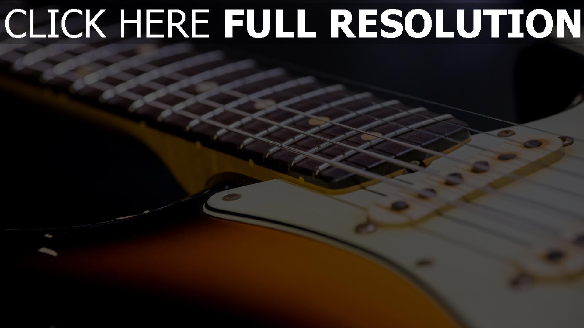 hd hintergrundbilder saiten gitarre hals 1920x1080