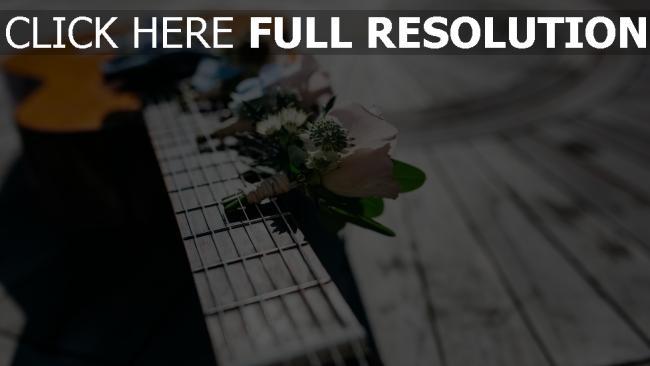 hd hintergrundbilder blumen strauß gitarre