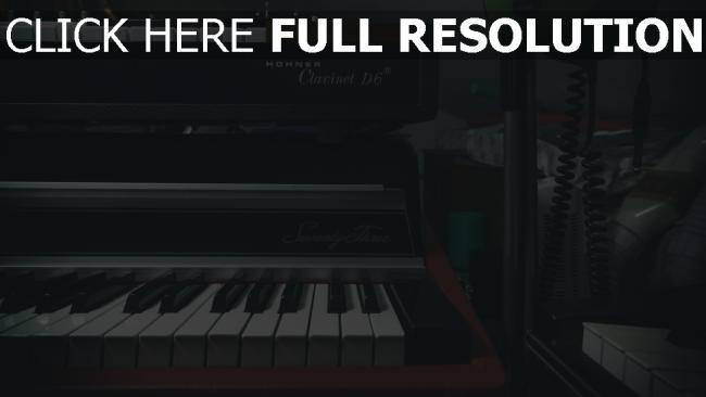 hd hintergrundbilder synthesizer musikinstrumente klavier