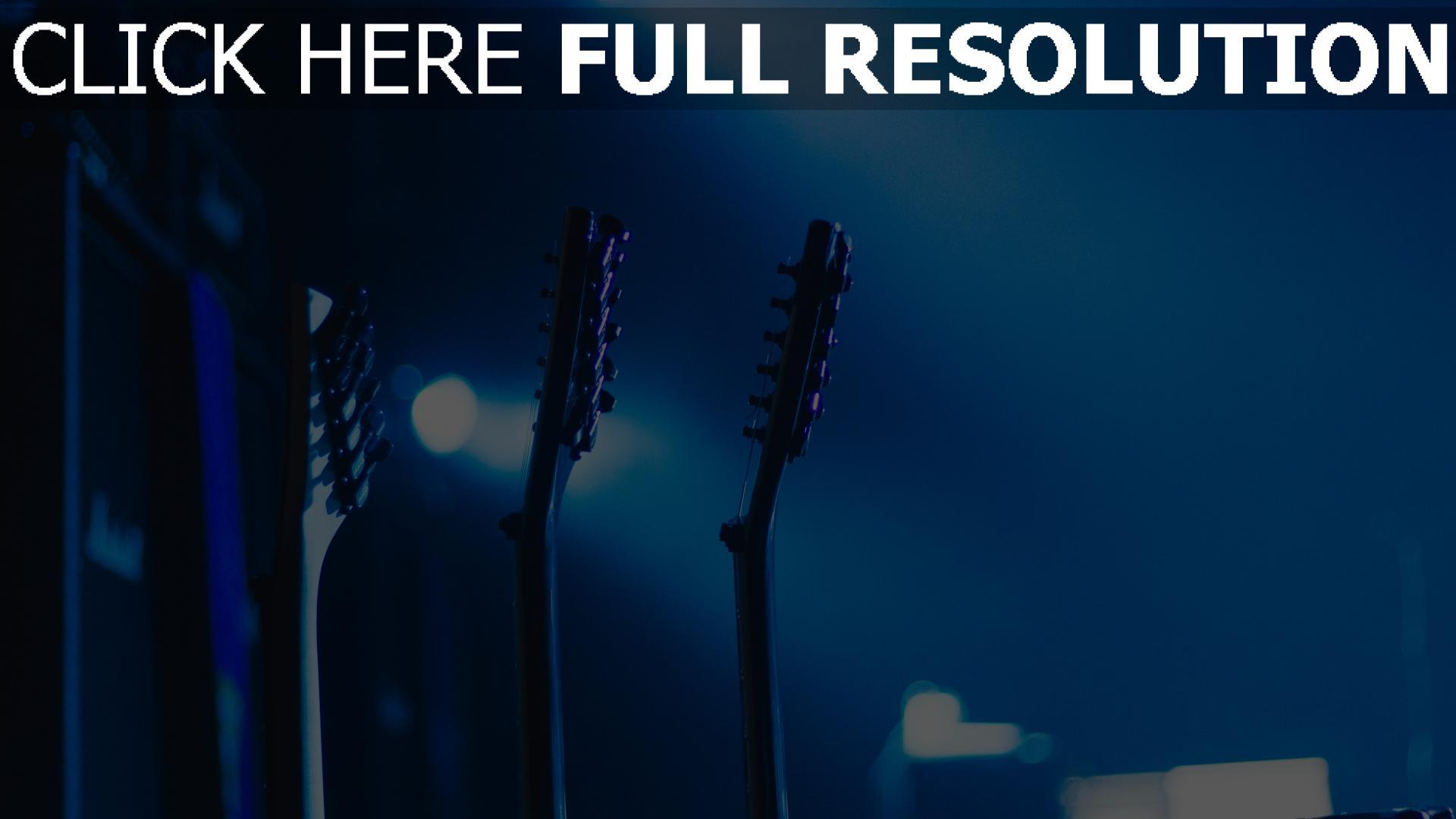 hd hintergrundbilder hals gitarre musik 1920x1080