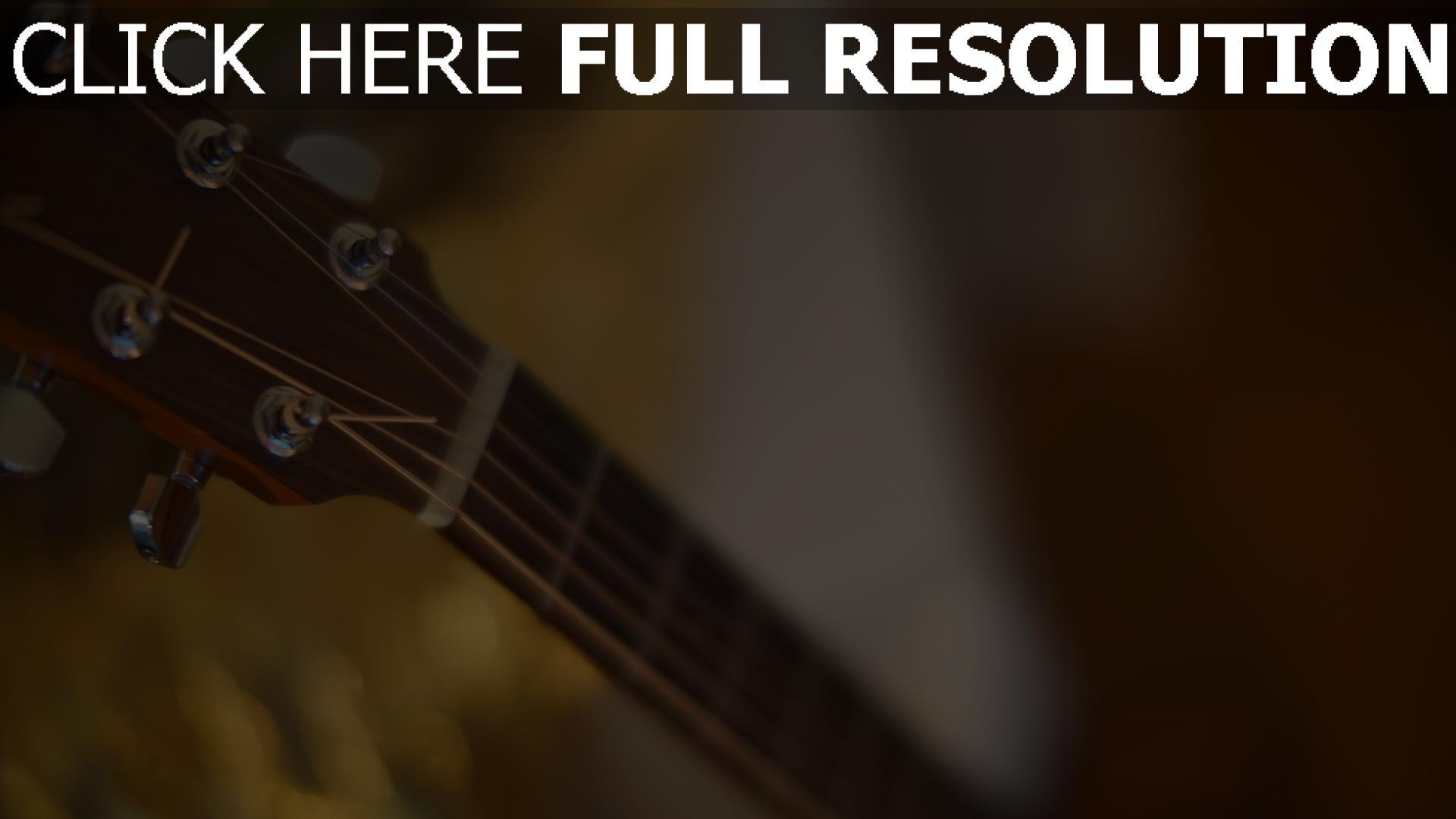 hd hintergrundbilder gitarre saiten hals 1920x1080