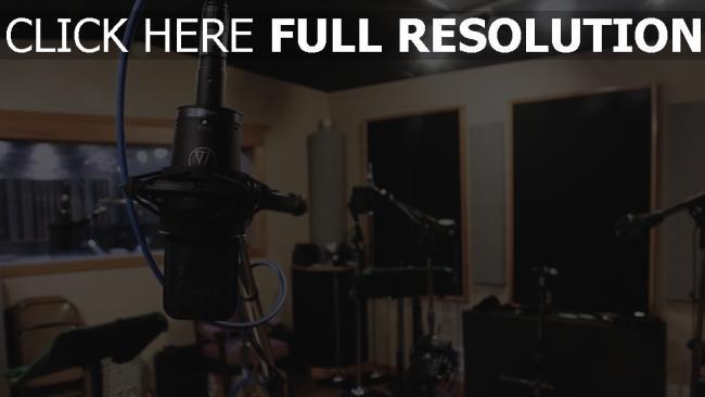 hd hintergrundbilder studio mikrofon ausrüstung