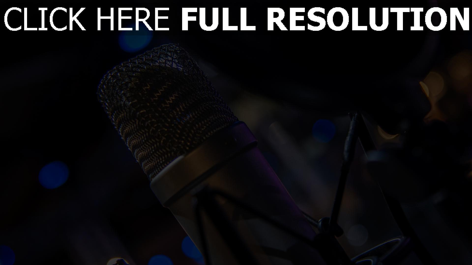 hd hintergrundbilder audio ausrüstung mikrofon 1920x1080