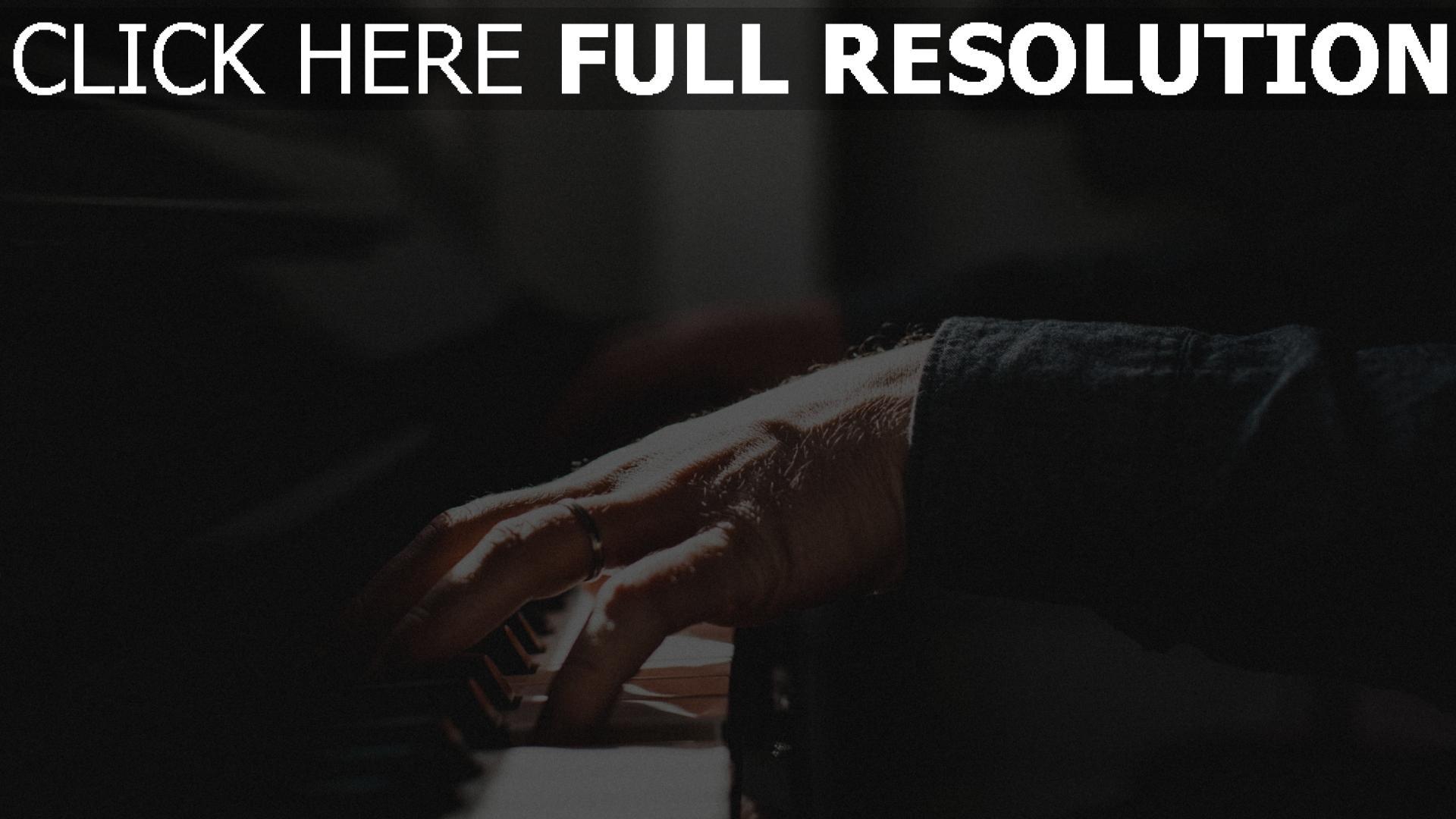 hd hintergrundbilder ring musik hände klavier 1920x1080
