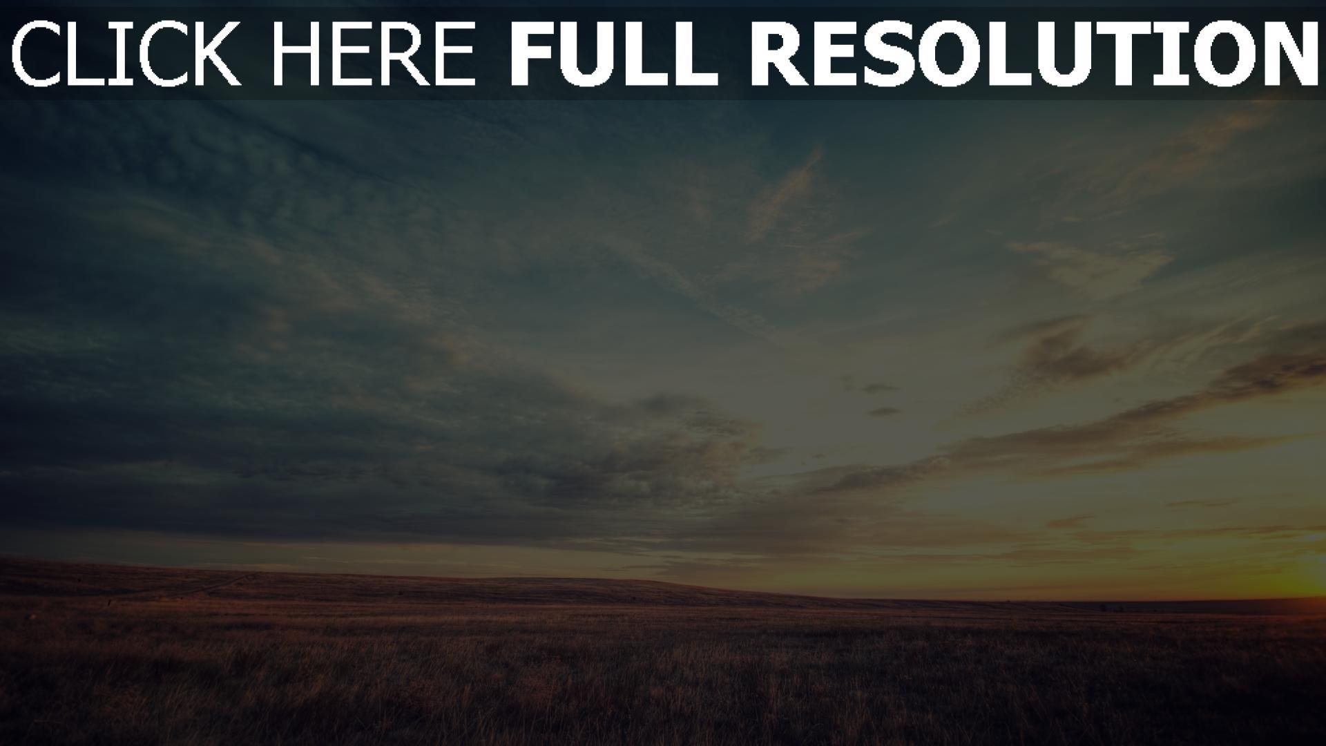 hd hintergrundbilder feld gras himmel wolken sonne schöne 1920x1080