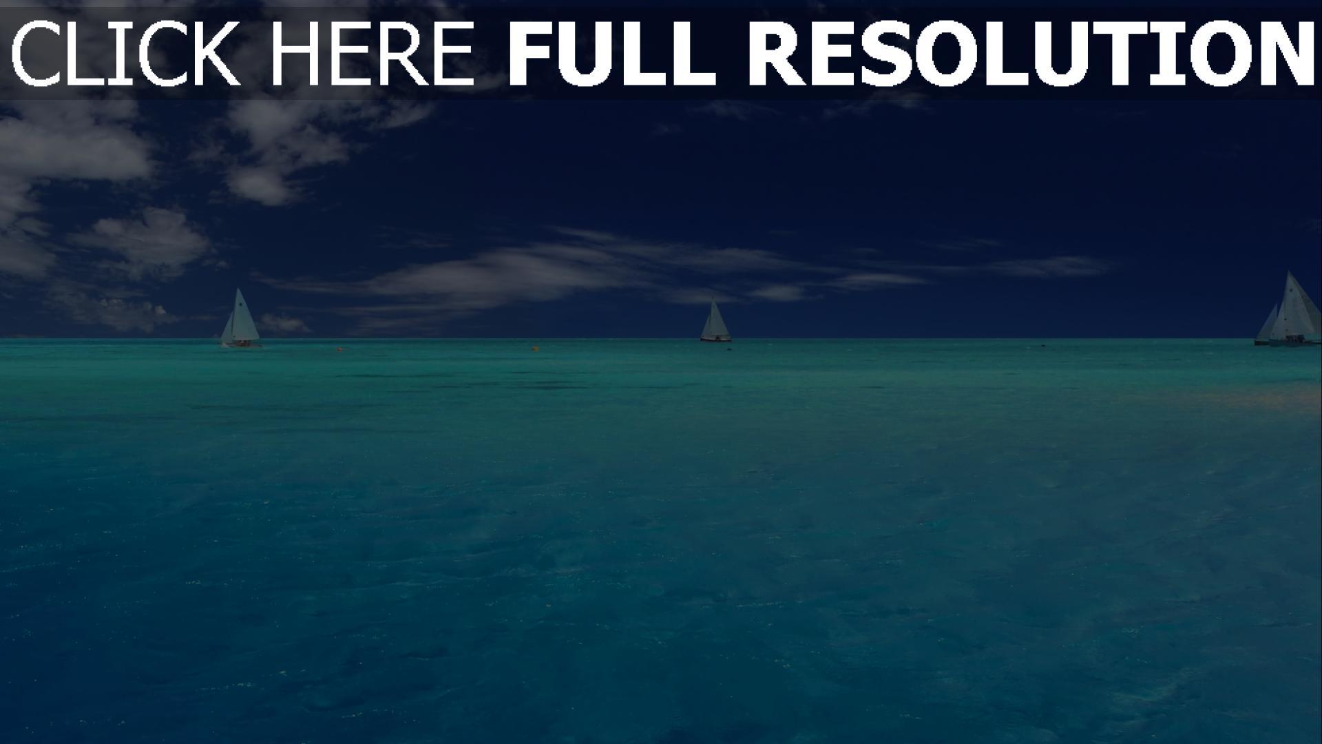 HD Hintergrundbilder meer blau himmel segeln yacht ...