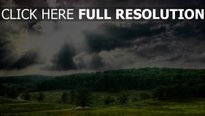 sommer senke himmel wolken glühen