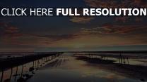 horizont himmel sonnenuntergang wolken wasser