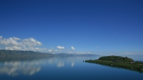 sommer himmel blau insel berg