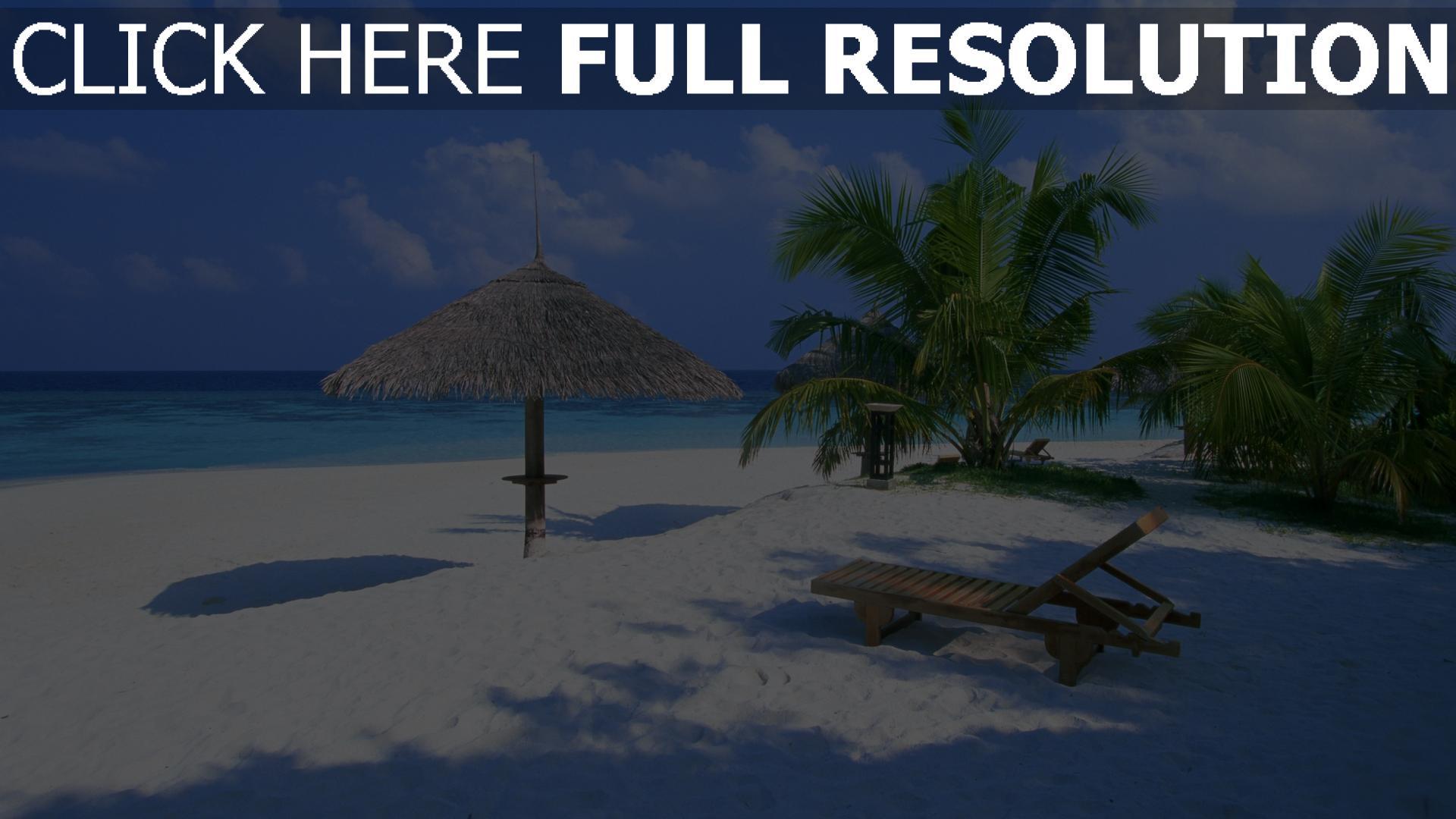 hd hintergrundbilder strand liegest hle palmen sand himmel. Black Bedroom Furniture Sets. Home Design Ideas