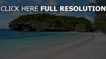 meer strand bucht sand felsen