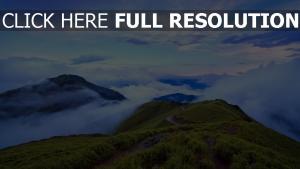 taiwan bergen hoch wolken himmel