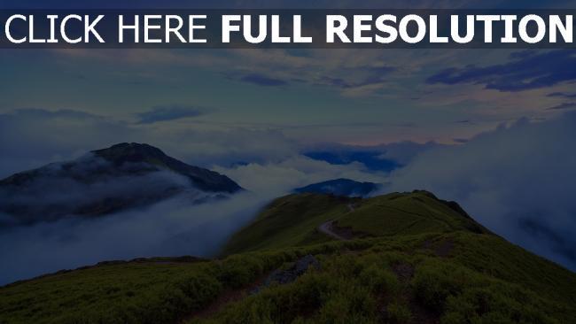 hd hintergrundbilder taiwan bergen hoch wolken himmel