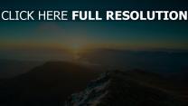 berge sonnenaufgang sonne licht wasser bucht