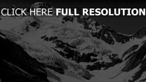 berge schnee felsen winter schlucht